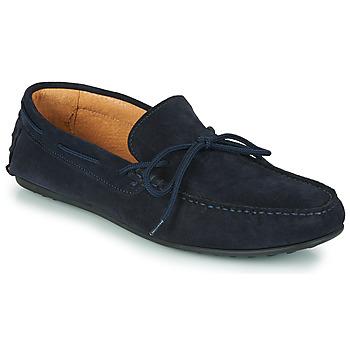 Schuhe Herren Slipper Selected SERGIO DRIVE SUEDE Marineblau