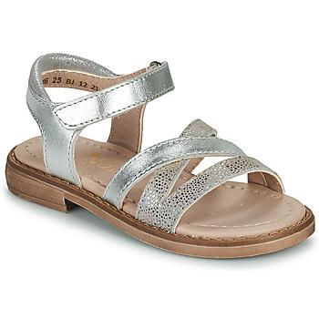 Schuhe Mädchen Sandalen / Sandaletten Aster TESSIA Silbrig