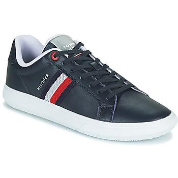 Schuhe Herren Sneaker Low Tommy Hilfiger ESSENTIAL LEATHER CUPSOLE Marineblau
