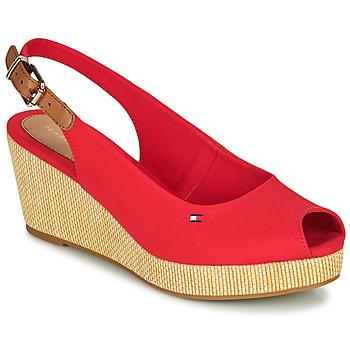 Schuhe Damen Sandalen / Sandaletten Tommy Hilfiger ICONIC ELBA SLING BACK WEDGE Orange