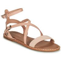 Schuhe Damen Sandalen / Sandaletten Tommy Hilfiger ESSENTIAL TOMMY FLAT SANDAL Kognac
