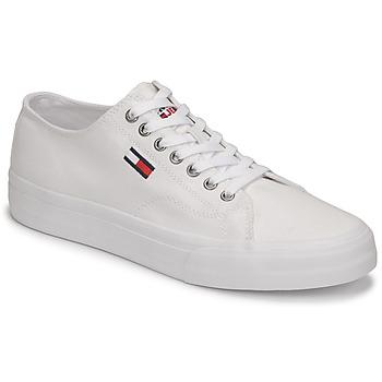 Schuhe Herren Sneaker Low Tommy Jeans LONG LACE UP VULC Weiß