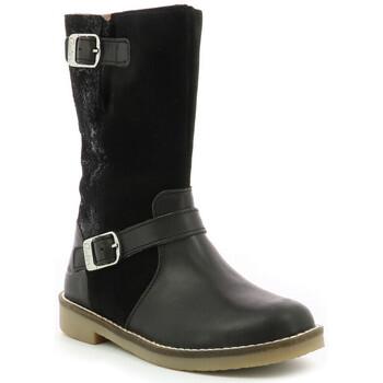 Chaussures Fille Bottes ville Aster Widia NOIR