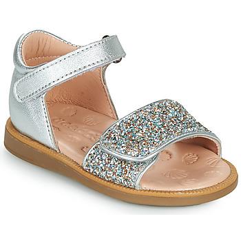 Schuhe Mädchen Sandalen / Sandaletten Acebo's 1232-PLATA Silbrig