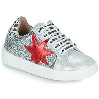 Schuhe Mädchen Sneaker Low Acebo's 5461GL-PLATA-J Silbrig