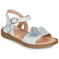 Schuhe Mädchen Sandalen / Sandaletten Acebo's 5500SU-BLANCO Weiß / Silbrig