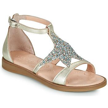 Schuhe Mädchen Sandalen / Sandaletten Acebo's 9895GE-PLATINO-J Golden