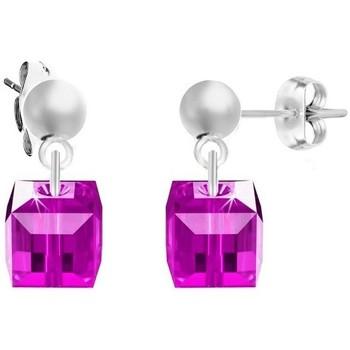 Montres & Bijoux Femme Boucles d'oreilles Sc Crystal BS2509-SE008-FUSH Argenté