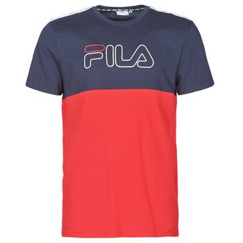 Kleidung Herren T-Shirts Fila JOPI Rot / Marineblau