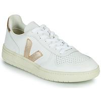 Schuhe Damen Sneaker Low Veja V-10 Weiß / Golden