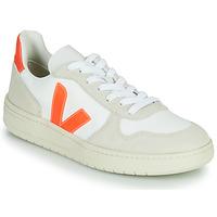 Schuhe Sneaker Low Veja V-10 Weiß / Orange
