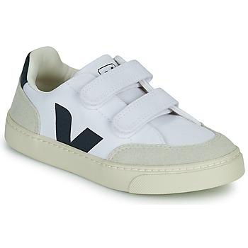 Chaussures Garçon Baskets basses Veja SMALL V-12 VELCRO