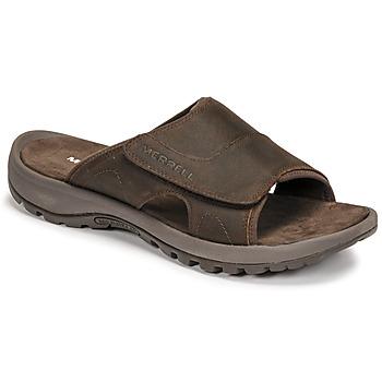 Schuhe Herren Pantoffel Merrell SANDSPUR II SLIDE Braun,