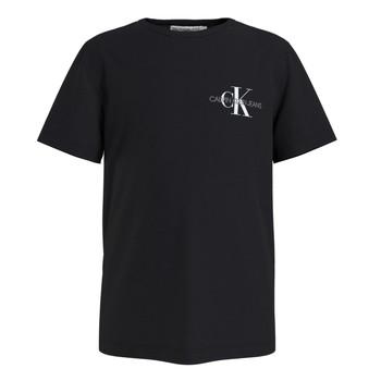 Vêtements Garçon T-shirts manches courtes Calvin Klein Jeans CHEST MONOGRAM TOP