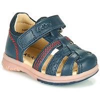 Schuhe Jungen Sandalen / Sandaletten Kickers PLATIBACK Marineblau