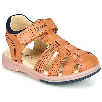 Schuhe Jungen Sandalen / Sandaletten Kickers PLATINIUM Kamel