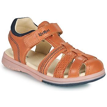 Chaussures Garçon Sandales et Nu-pieds Kickers PLATINIUM