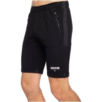 Vêtements Homme Shorts / Bermudas Shilton Short de sport molleton Noir