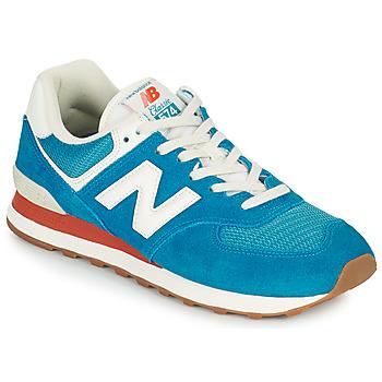 Schuhe Herren Sneaker Low New Balance 574 Blau / Weiß