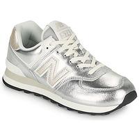 Schuhe Damen Sneaker Low New Balance 574 Silbrig