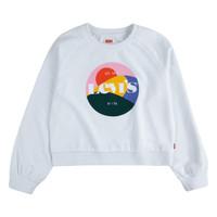 Kleidung Mädchen Sweatshirts Levi's 3ED410-001 Weiß
