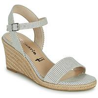 Schuhe Damen Sandalen / Sandaletten Tamaris LIVIAN Marineblau / Weiß