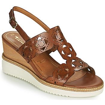 Schuhe Damen Sandalen / Sandaletten Tamaris ALIS Kognac