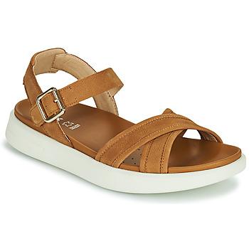 Schuhe Damen Sandalen / Sandaletten Geox D XAND 2S B Kognac