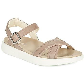 Schuhe Damen Sandalen / Sandaletten Geox D XAND 2S B Beige