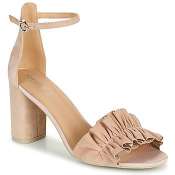 Schuhe Damen Sandalen / Sandaletten Geox D ERAKLIA HIGH E Beige