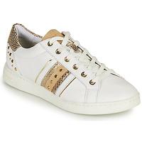 Schuhe Damen Sneaker Low Geox D JAYSEN A Weiß / Golden