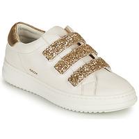 Schuhe Damen Sneaker Low Geox D PONTOISE C Weiß / Golden