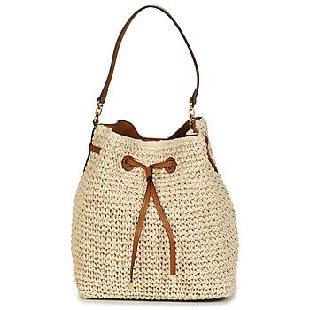 Taschen Damen Umhängetaschen Lauren Ralph Lauren DEBBY CROCHET STRAW Beige / Kognac