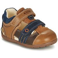 Schuhe Jungen Sandalen / Sandaletten Geox KAYTAN Braun, / Marineblau