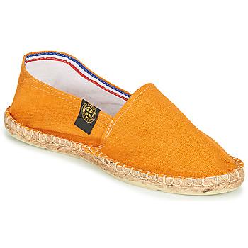 Schuhe Leinen-Pantoletten mit gefloch Art of Soule LINEN Orange