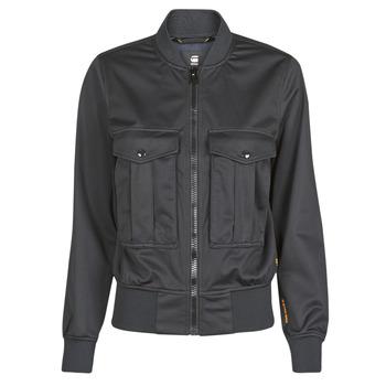 Kleidung Damen Jacken / Blazers G-Star Raw Rovic aviator bomber wmn Schwarz / Schwarz