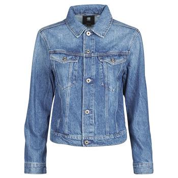 Kleidung Damen Jeansjacken G-Star Raw 3301 Straight Dnm Jkt Wmn Blau