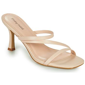 Schuhe Damen Pantoffel Moony Mood OBIUTI Beige
