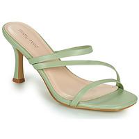 Schuhe Damen Pantoffel Moony Mood OBIUTI Mandelfarben