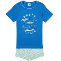Vêtements Garçon Pyjamas / Chemises de nuit Petit Bateau MAYONNAISE