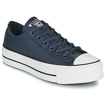 Schuhe Damen Sneaker Low Converse CHUCK TAYLOR ALL STAR LIFT ANODIZED METALS OX Blau