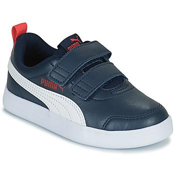 Schuhe Jungen Sneaker Low Puma COURTFLEX PS Blau