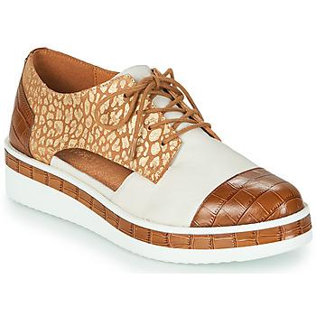 Schuhe Damen Derby-Schuhe Mam'Zelle KIGALI Weiß / Braun,