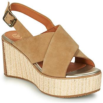 Schuhe Damen Sandalen / Sandaletten Mam'Zelle MEDINA Beige