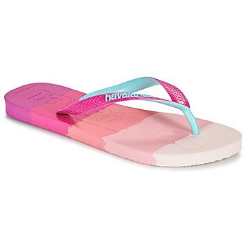 Chaussures Femme Tongs Havaianas TOP LOGOMANIA MULTICOLOR