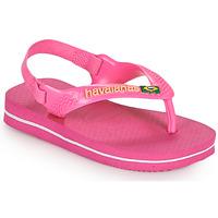 Chaussures Fille Tongs Havaianas BABY BRASIL LOGO II