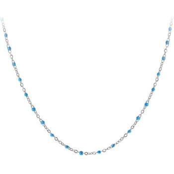 Montres & Bijoux Femme Colliers / Sautoirs Sc Crystal B2380-BLEU Argenté