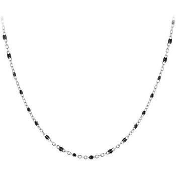 Montres & Bijoux Femme Colliers / Sautoirs Sc Crystal B2380-NOIR Argenté