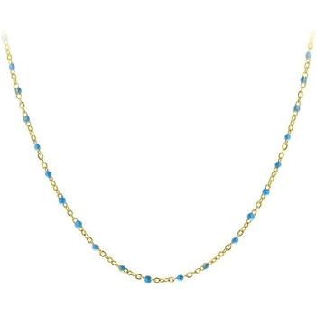 Montres & Bijoux Femme Colliers / Sautoirs Sc Crystal B2394-BLEU Doré