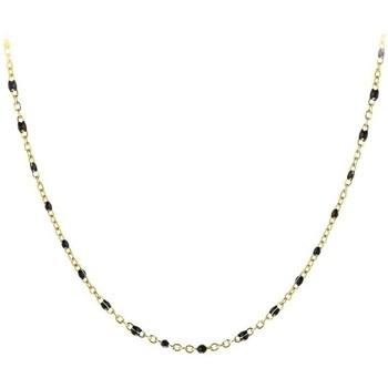 Montres & Bijoux Femme Colliers / Sautoirs Sc Crystal B2394-NOIR Doré